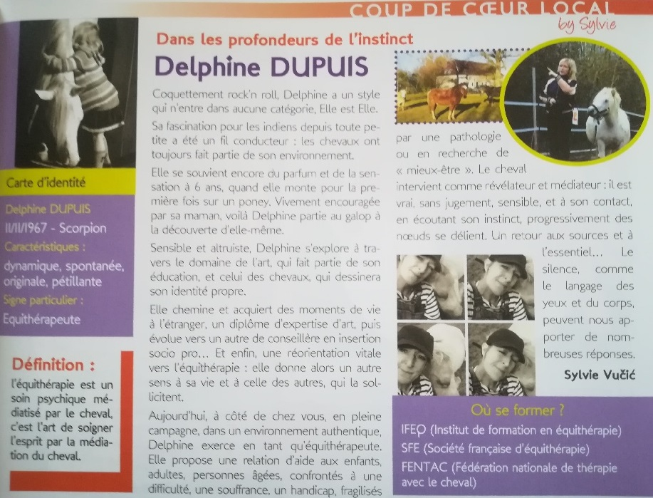 Delphine Dupuis equitherapeute