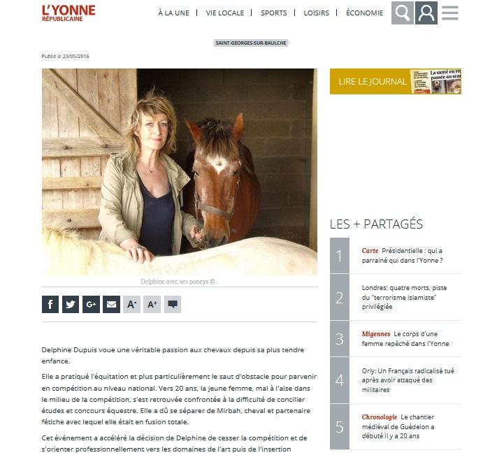 Equitherapie Yonne ateliers-presse-Yonne republicaine