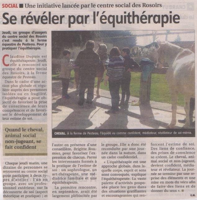 Equitherapie Yonne ateliers-presse-mars 17
