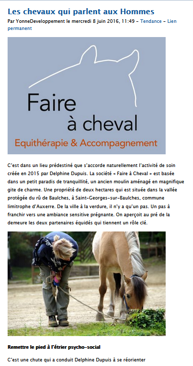 Equitherapie Yonne cours Auxerre Faire a cheval
